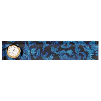 Abstrakte Magie - Marine-Blaugrunge-Schwarzes Schreibtischplakette