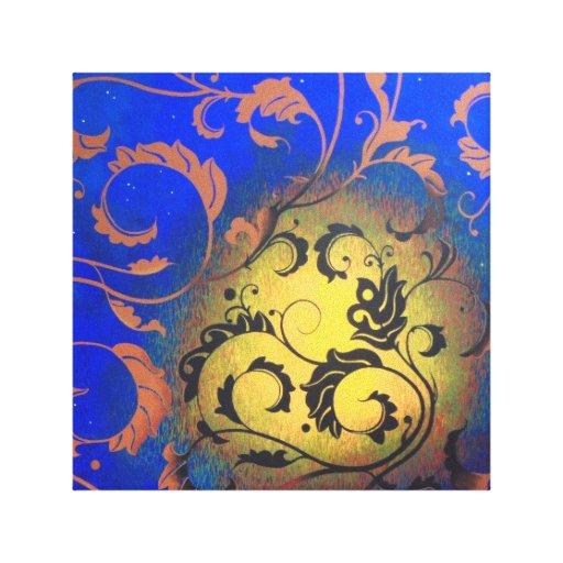 Abstrakte malende Mit Blumenmichelle Andrews Gespannter Galeriedruck