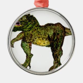 Abstrakte Malerei Dino Silbernes Ornament