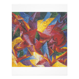 Abstrakte Malerei von Umberto Boccioni Flyerdesign