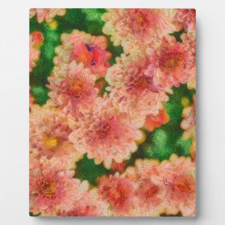 Abstrakte Mama-Blumenkunst Fotoplatte