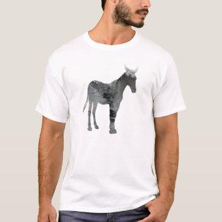 Abstrakte Maultier-Silhouette T-Shirt