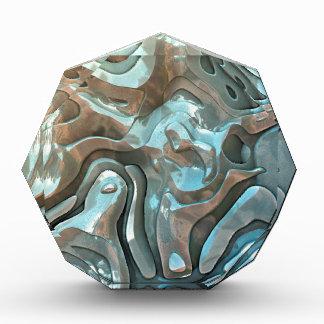 Abstrakte metallische Schichten Acryl Auszeichnung