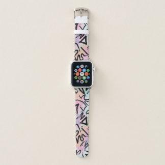 Abstrakte moderne GraffitiWatercolorBrushstrokes Apple Watch Armband