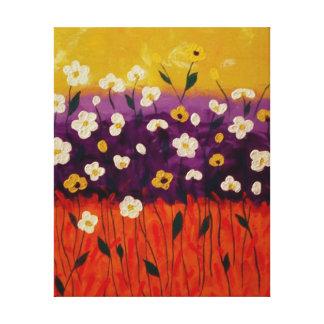 """Abstrakte Mohnblumen 2"" durch Linda Powell~Canvas Leinwanddrucke"