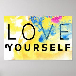 Abstrakte motivierend Zitat-Liebe sich Poster
