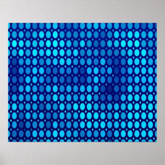 Abstrakte Muster-Blau-Kreise Poster