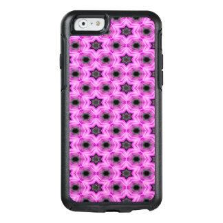 Abstrakte Muster-Flieder und dunkelgrauer OtterBox iPhone 6/6s Hülle