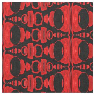 Abstrakte Muster-Teiler 02 im Rot über Schwarzem Stoff
