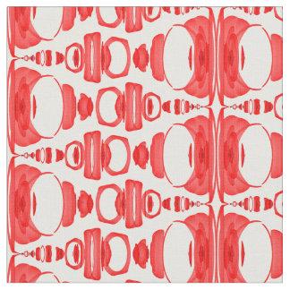 Abstrakte Muster-Teiler 02 im Rot über Weiß Stoff
