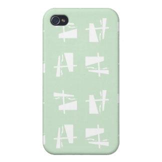 Abstrakte Musterweißminze iPhone 4/4S Hülle