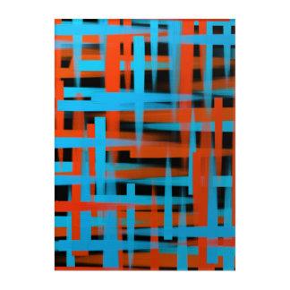 Abstrakte Ölbürstenanschläge in Orange und in Acryldruck