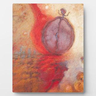 Abstrakte Ölmalerei des Feuer-Tanzes Fotoplatte