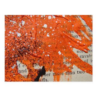 Abstrakte orange Farbe Postkarte