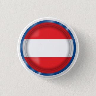 Abstrakte Österreich-Flagge, österreichischer Runder Button 3,2 Cm
