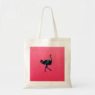 Abstrakte Ostrich-Budget-Tasche Tragetasche