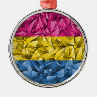 Abstrakte Pansexual Flagge Silbernes Ornament