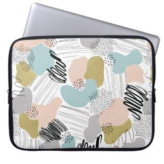 Abstrakte Pastelllaptop-Hülse Laptopschutzhülle
