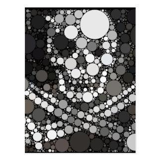 Abstrakte Piraten-Schädel-und Kreuz-Schwerter Postkarte