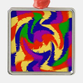 Abstrakte Primärfarben Silbernes Ornament