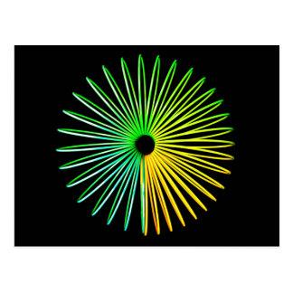 Abstrakte psychedelische optische postkarte