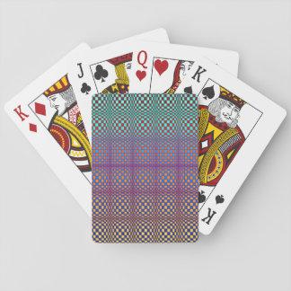 Abstrakte Quadrate 3 Spielkarten