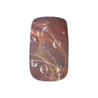 Abstrakte Rauchund Blasenminx-Nagel-Kunst Minx Nagelkunst