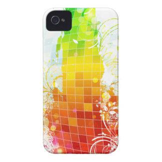 Abstrakte Regenbogen-Quadrate iPhone 4 Cover