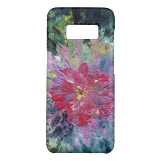 Abstrakte rosa Blume unter einem grünen Case-Mate Samsung Galaxy S8 Hülle
