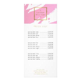 Abstrakte rosa Brushstrokes Werbekarten