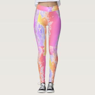 Abstrakte rosa Muster-Gamaschen Leggings