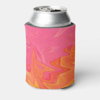 Abstrakte rosa und gelbes Goldsoda-Dose cooler Dosenkühler