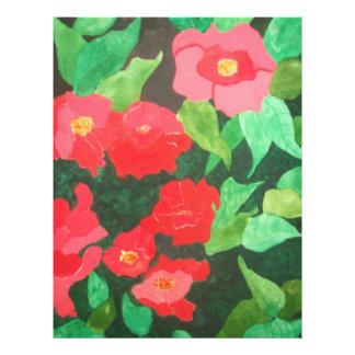 abstrakte Rosen Vollfarbige Flyer