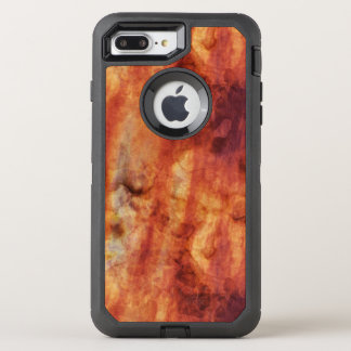 Abstrakte rostige Rottöne und Orangen OtterBox Defender iPhone 8 Plus/7 Plus Hülle