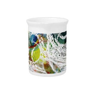 Abstrakte rote Blutzelle-medizinische Geschenke Getränke Pitcher