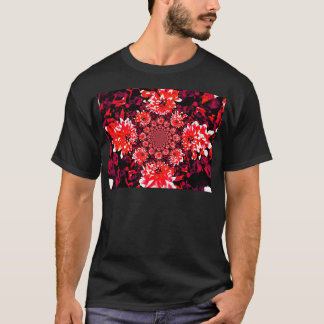 Abstrakte rote Dahlie T-Shirt
