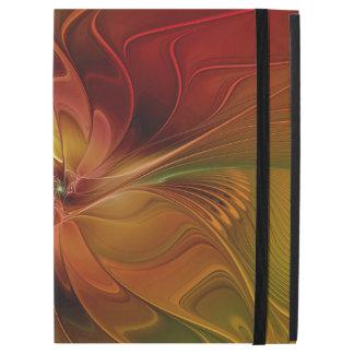 Abstrakte rote orange Fraktal-Kunst-Blume Browns
