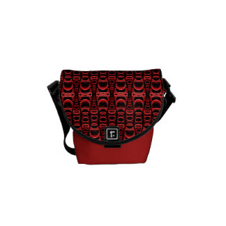 Abstrakte rotes Schwarzes der Muster-Teiler-07 Kuriertaschen