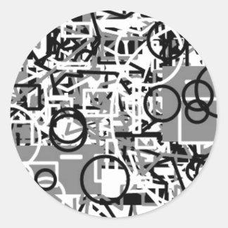 abstrakte Schablone Runder Aufkleber