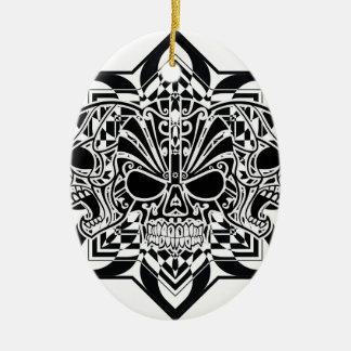 Abstrakte Schädel Keramik Ornament