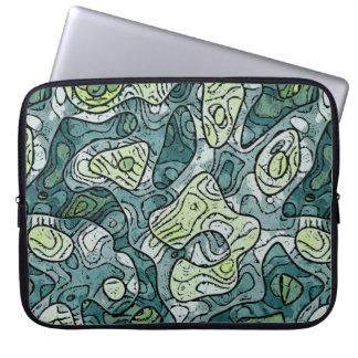 Abstrakte Schatten des Grüns Laptop Sleeve