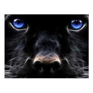Abstrakte schwarze Labrador-Kunst Postkarten
