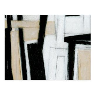 Abstrakte schwarze u. weiße Malerei Postkarten