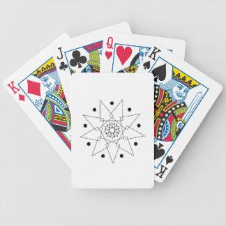 Abstrakte Schwarzweiss-Form Bicycle Spielkarten