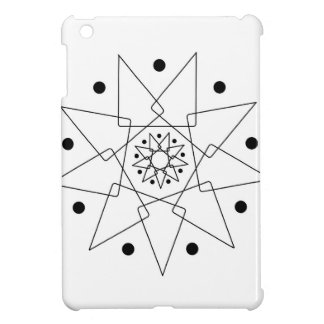 Abstrakte Schwarzweiss-Form iPad Mini Hülle
