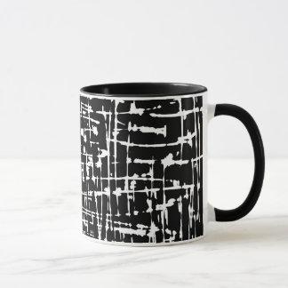 Abstrakte Schwarzweiss-Grafik Tasse