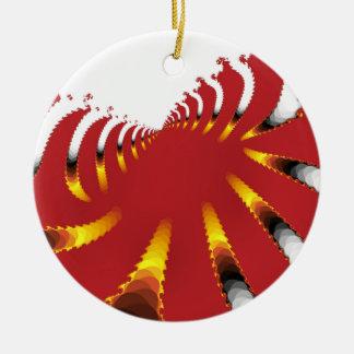 ABSTRAKTE SEEanemone Keramik Ornament