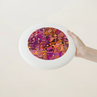 abstrakte segmentierte 3 Wham-O frisbee