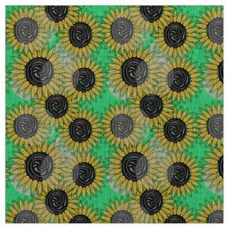 Abstrakte Sonnenblumesommerstimmung Stoff