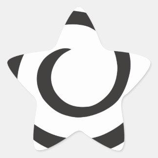 Abstrakte Spirale Stern-Aufkleber